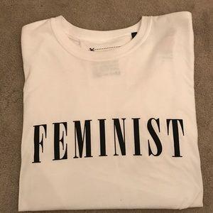 "Topshop ""Feminist"" slogan t-shirt (one size)"